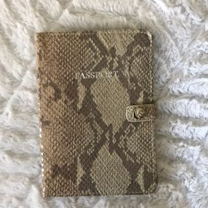Victoria's Secret passport holder snakeskin
